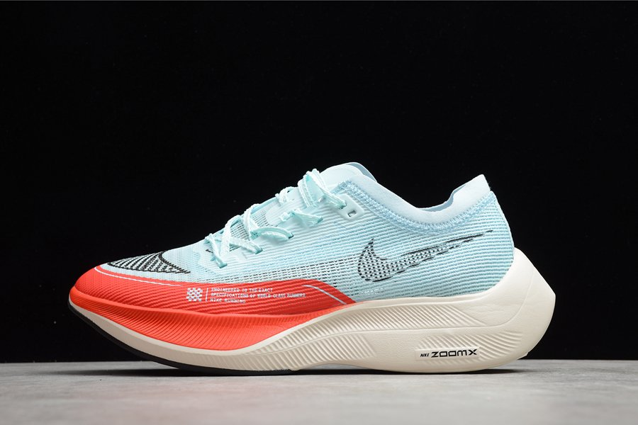 Nike ZoomX Vaporfly Next 2 Glacier Blue Chile Red Pale Ivory Black