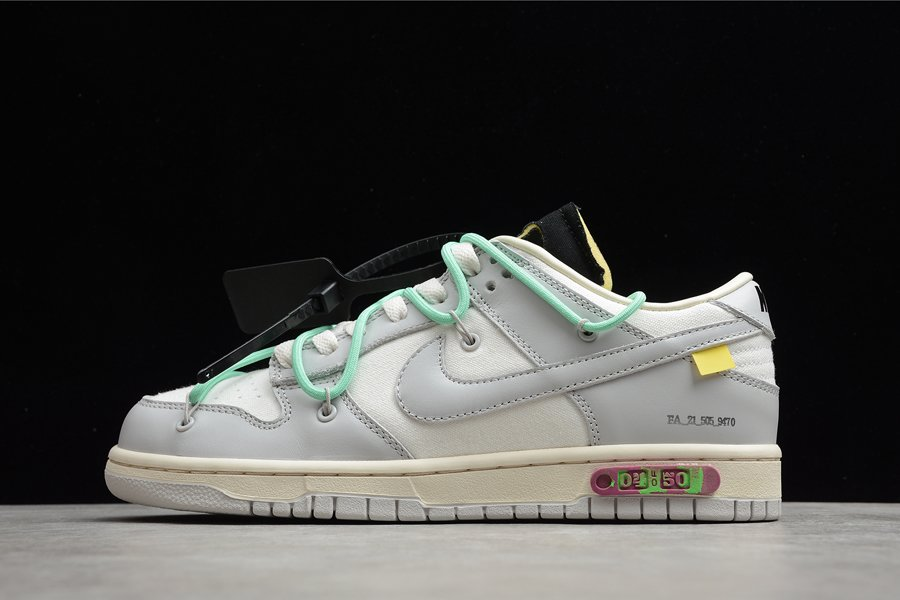 Virgil Abloh Off-White x Nike Dunk Low 04 of 50 Grey Teal