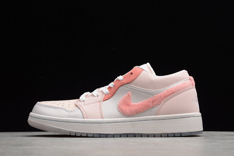 Anime-Themed Air Jordan 1 Low Mighty Swooshes White Pink