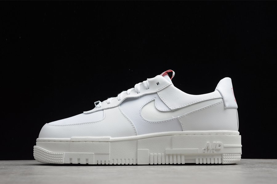 CK6649-105 Nike Air Force 1 Pixel Summit White Red For Sale