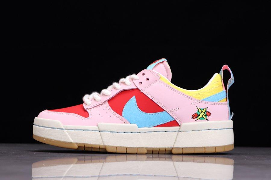 DD8478-641 Womens Nike Dunk Low Disrupt Firecracker Pink
