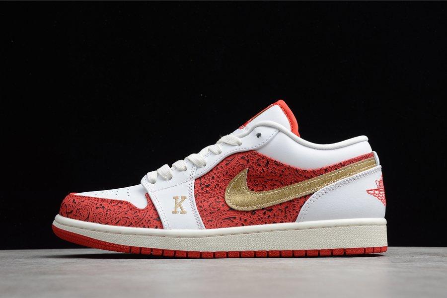 DJ5185-100 Air Jordan 1 Low Spades White Light Fusion Red To Buy
