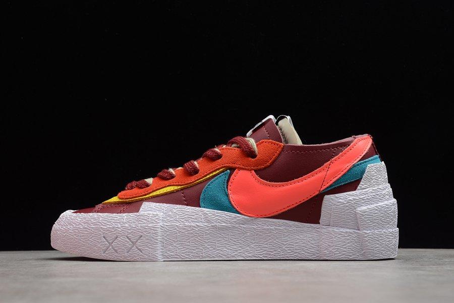 DM7901-600 KAWS x sacai x Nike Blazer Low Red