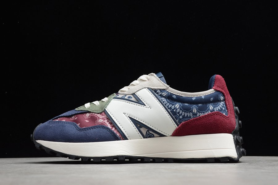 MS327DWU New Balance 327 Paisley Pack Red Blue Green