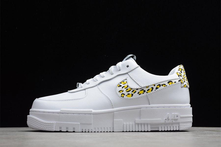 Nike Air Force 1 Pixel Leopard Print White Lemon