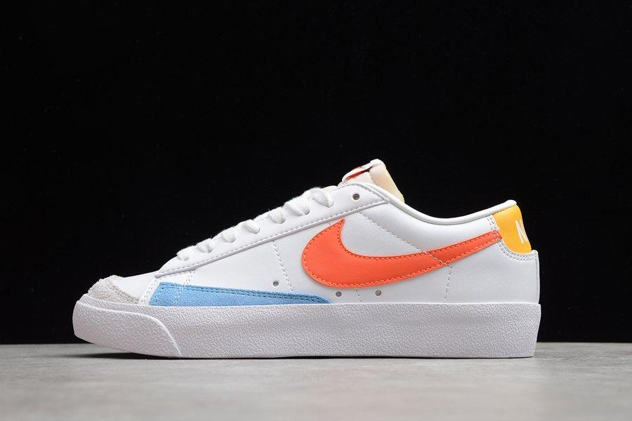Nike Blazer Low 77 White Orange-Light Blue