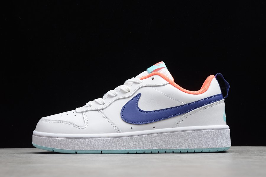 Nike Court Borough Low 2 White Navy Teal BQ5448-112 For Sale
