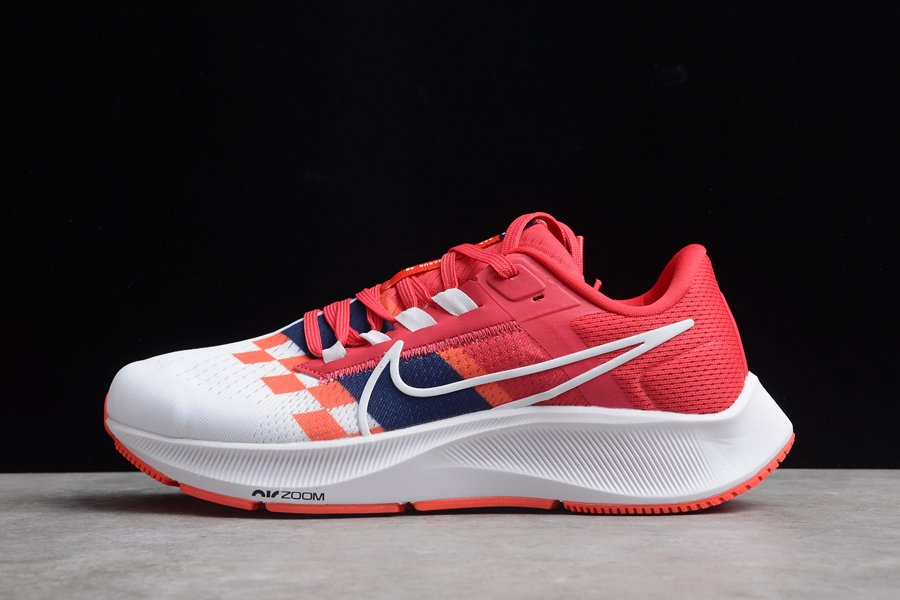 Chaussure Nike Air Zoom Pegasus 38 By You White Red pas cher