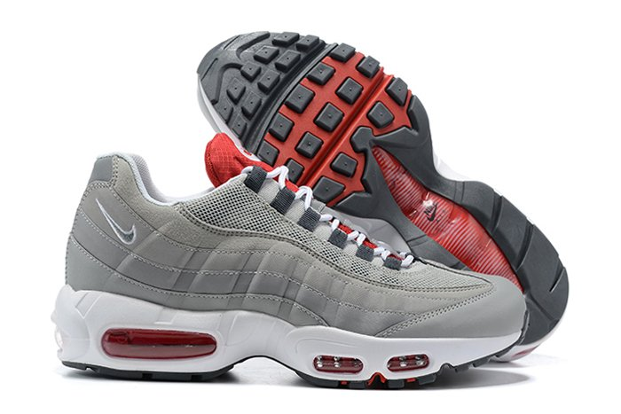 DB0250-001 Nike Air Max 95 Grey USA Cement Grey Chile Red-White