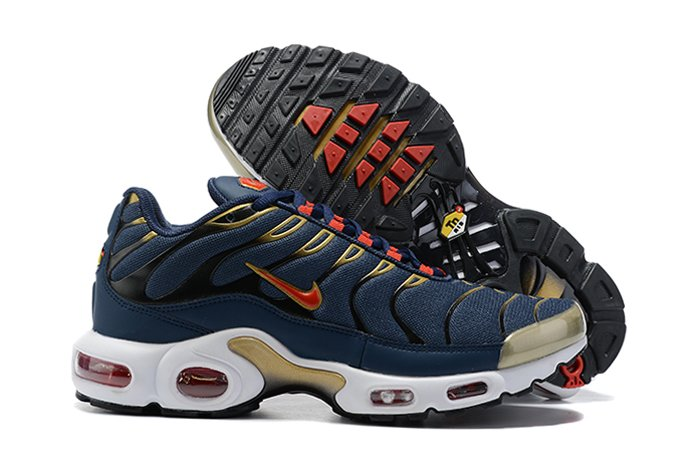 DH4682-400 Air Max Plus Olympic Obsidian Metallic Gold White Comet Red