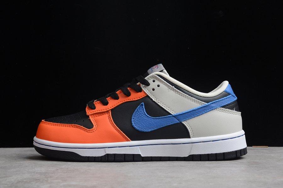 NBA x Nike Dunk Low EMB Knicks Black Racer Blue-Grey Fog-Orange