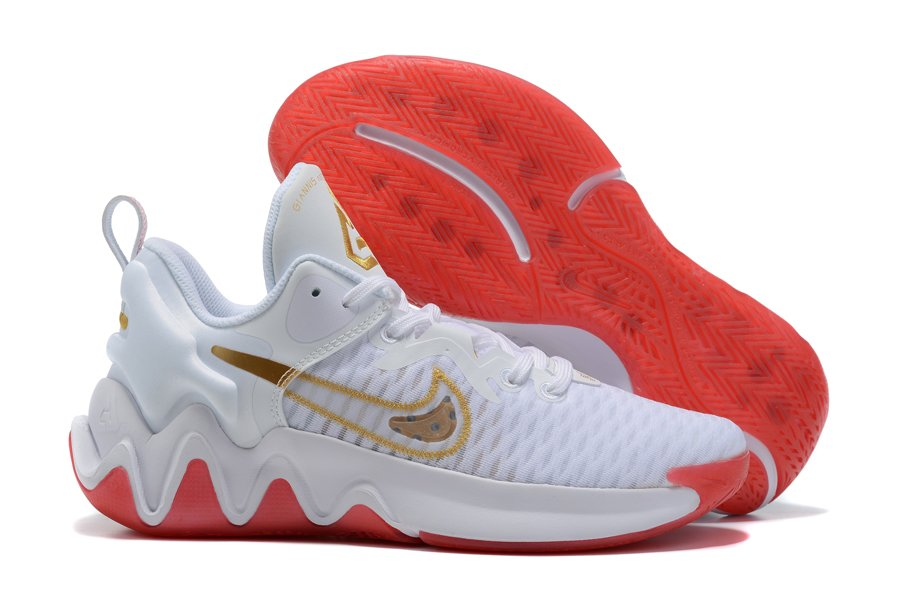 Nike Giannis Immortality White Red Gold For Sale