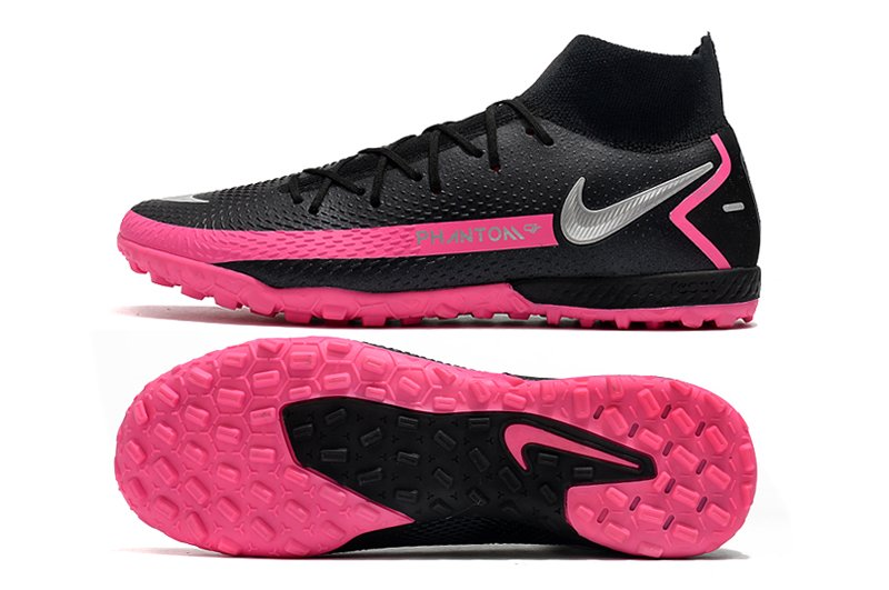 Nike JR Phantom GT Academy Dynamic Fit TF Black Metallic Silver-Pink Blast