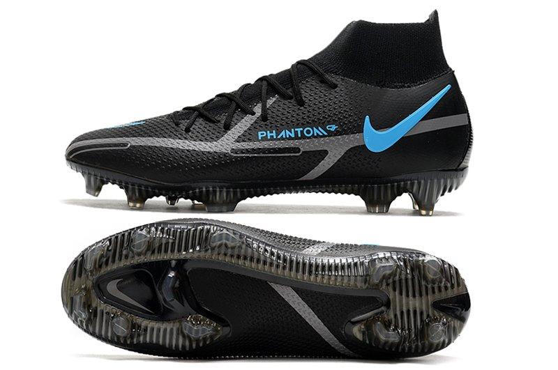 Nike Phantom GT II Dynamic Fit Elite FG Black Grey Blue Soccer Cleats