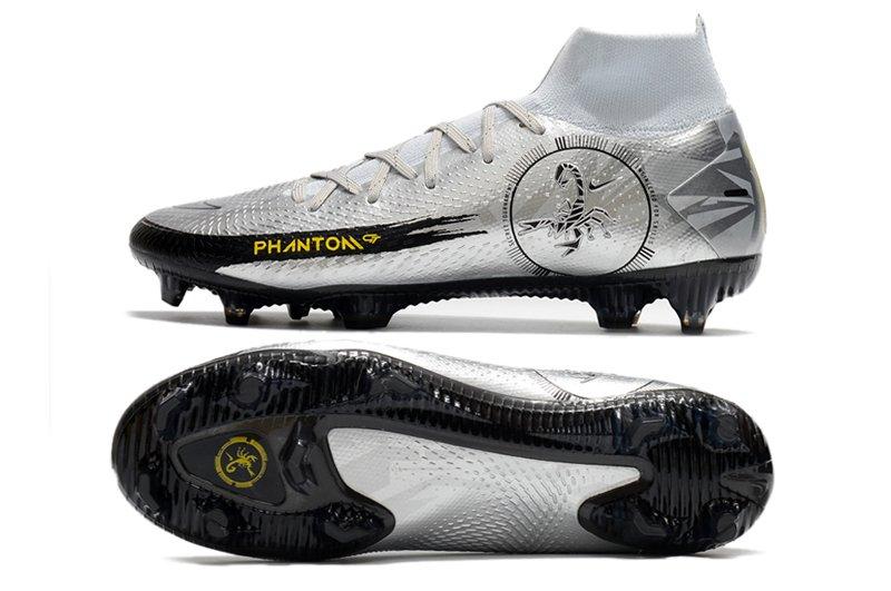Nike Phantom GT Scorpion Elite DF SE FG Firm Ground Silver Soccer Cleat