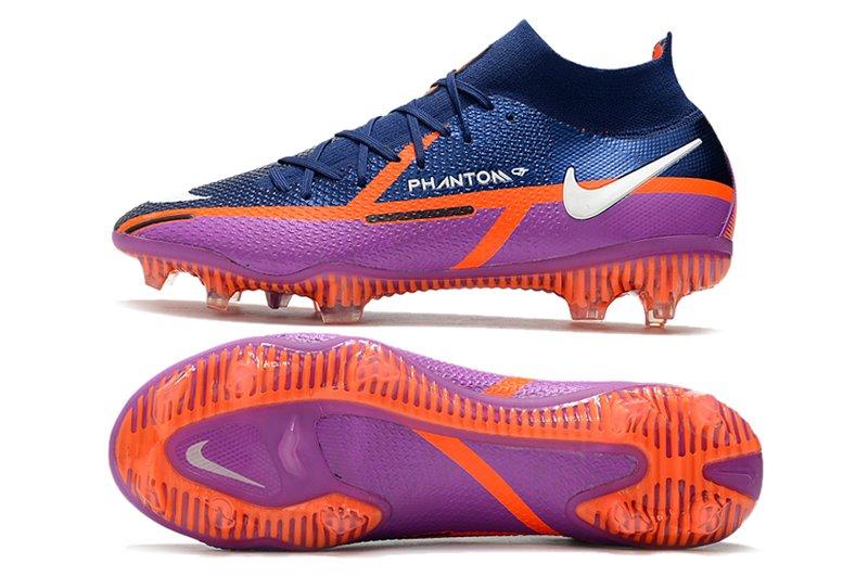 Nike Phantom GT2 Elite DF FG Firm Ground Soccer Cleats College Navy Vivid Purple-Bright Crimson