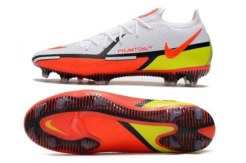 Nike Phantom GT2 Elite FG White Volt Bright Crimson Soccer Cleats