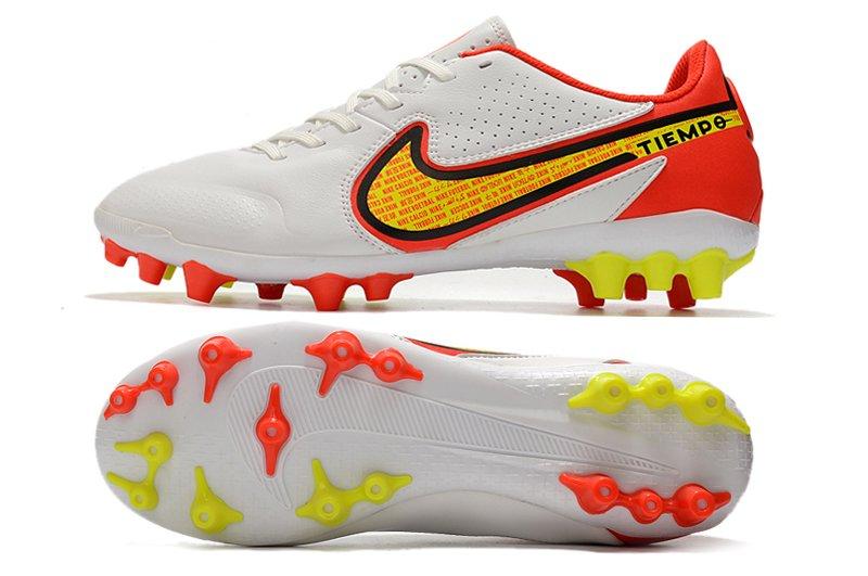 Nike Tiempo Legend 9 IX Academy AG Football Boots White Volt-Bright Crimson