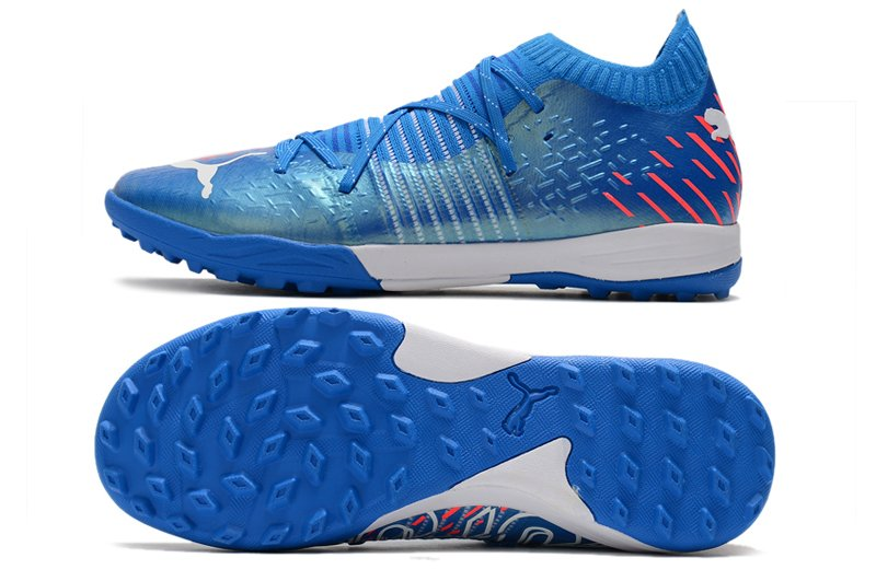 Puma Future Z 1.2 Pro Cage Shoes Blue Mens Sports Soccer Cleats