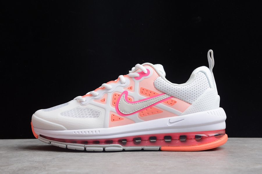 Womens Nike Air Max Genome White Bright Mango CZ1645-101 On Sale