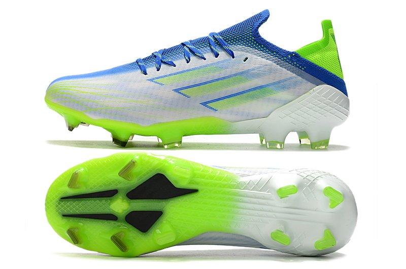 Adidas X Speedflow.1 FG Adizero Firm Ground White Blue Green