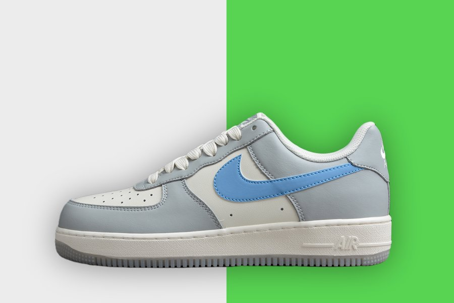 Nike Air Force 1 Low Light Grey Blue White to Buy