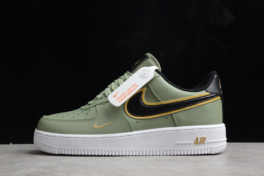 Nike Air Force 1 Low Oil Green Metallic Gold White Black For Sale