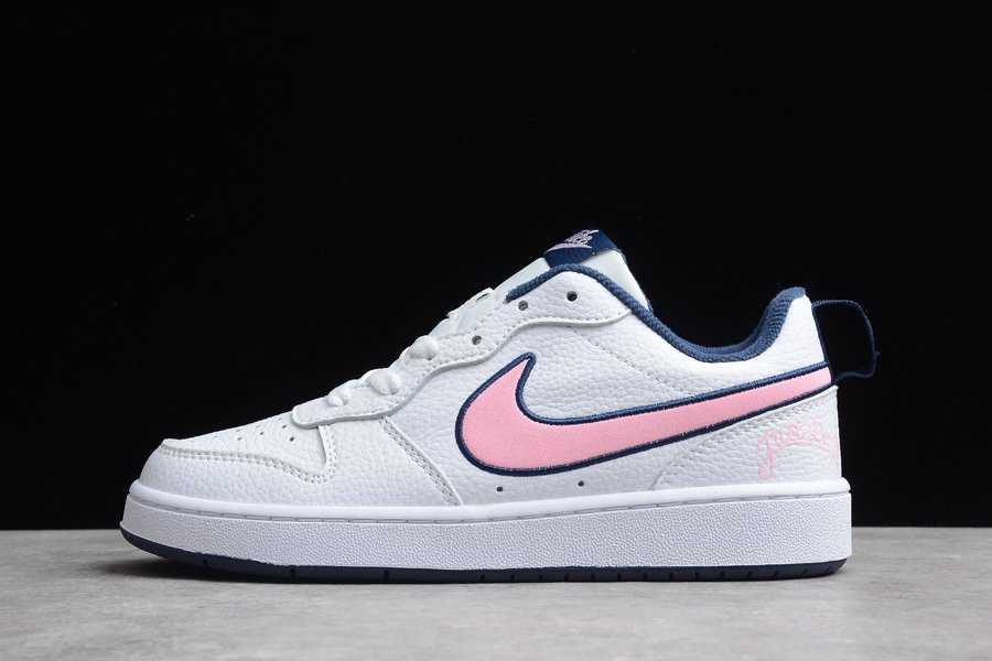 Nike Court Borough Low 2 SE White Midnight Navy-Pink Glaze