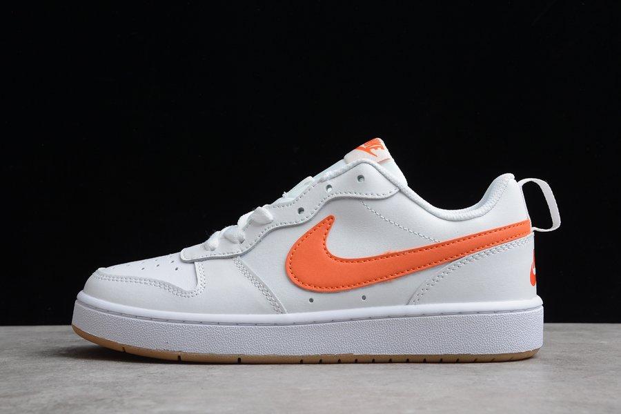 Nike Court Borough Low 2 White Sail Orange On Sale