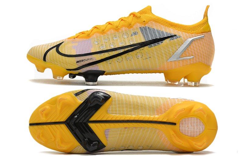 Nike Mercurial Vapor XIV Elite FG Yellow Black Football Shoes