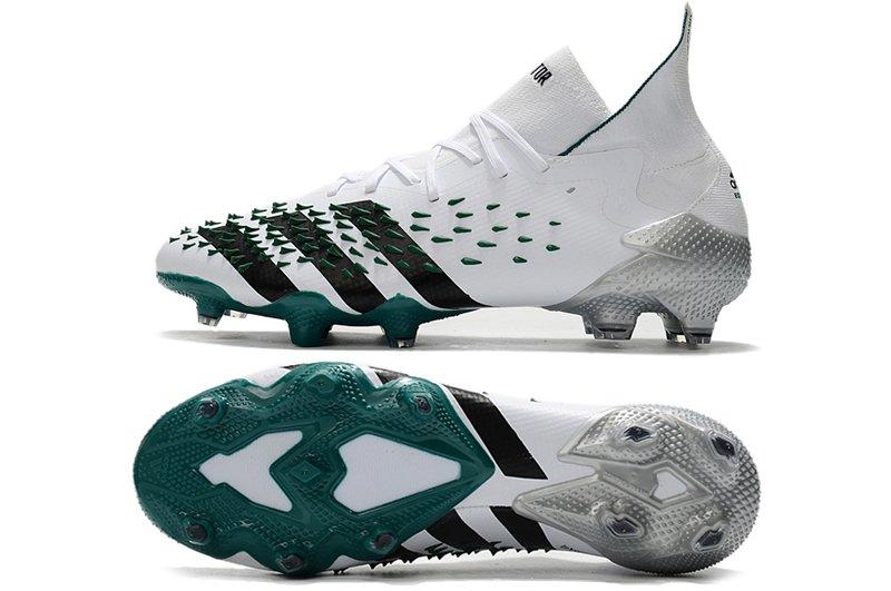adidas Predator Freak.1 FG White Black Green Football Shoes